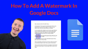 How To Add A Watermark In Google Docs