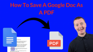 How To Save A Google Doc As A PDF