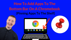 how to add apps to the bottom bar on chromebook